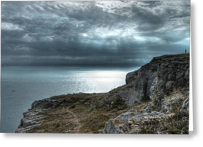 A Rock With A View Greeting Card by Graham Ettridge