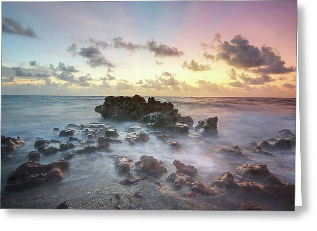 A Rocky Sunrise. Greeting Card