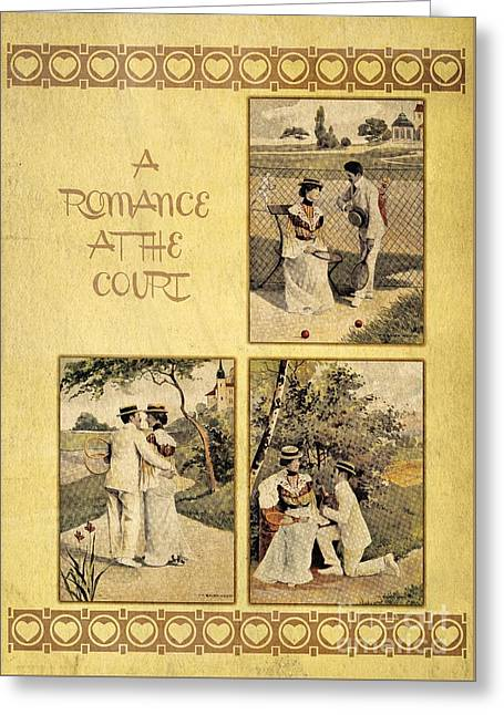 A Romance At The Tennis Court Greeting Card by Heidi De Leeuw