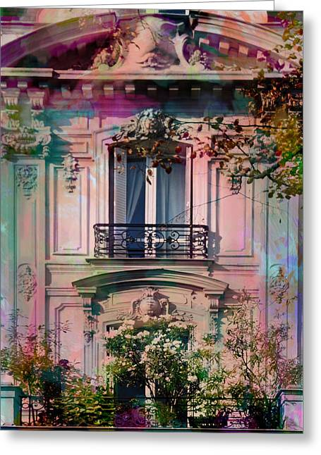 A Romantic Balcony Greeting Card