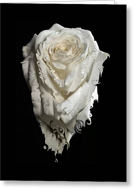 A Rose Melted Down In A Moment Greeting Card by Cristina Tamiso
