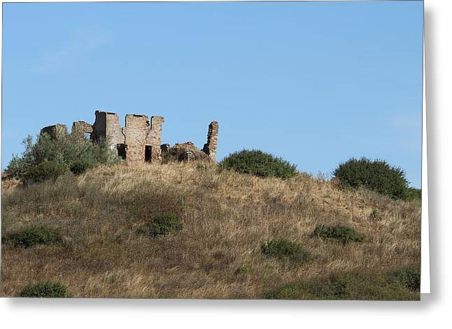 A Ruin In The Hills Of Tuscany Greeting Card by Samantha Mattiello