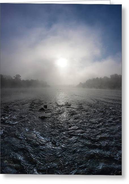 A Rushing River Greeting Card