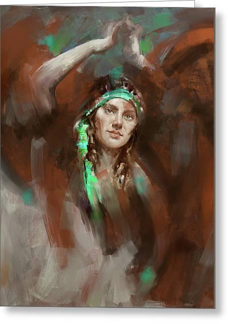 a russian dancing girl 180 IV Greeting Card by Mawra Tahreem
