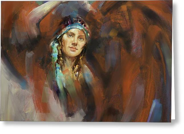 a russian dancing girl 180 II Greeting Card by Mawra Tahreem