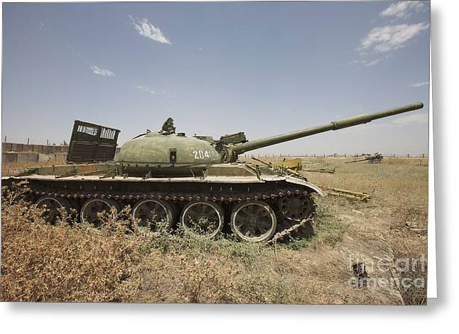 A Russian T-62 Main Battle Tank Rests Greeting Card by Terry Moore