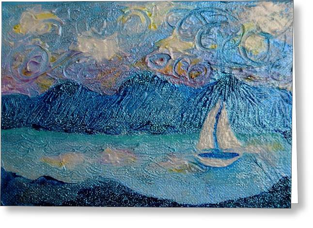 A Sailboat For The Mind #2 Greeting Card