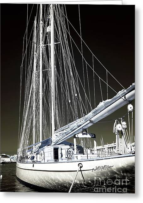 A Sailboat In Marseille Greeting Card