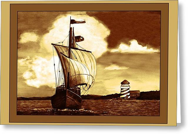 A Sailin' 2 Greeting Card by Sherry Holder Hunt