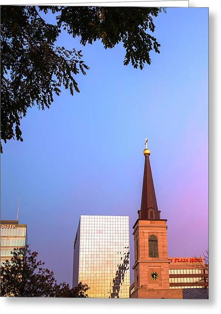 A Saint Louis Morning Greeting Card by Gregory Ballos