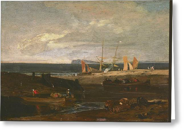 A Scene On The English Coast Greeting Card by Joseph Mallord William Turner