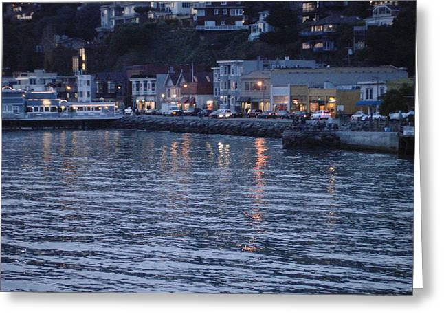 A Scenery Of Sausalito At Dusk Greeting Card