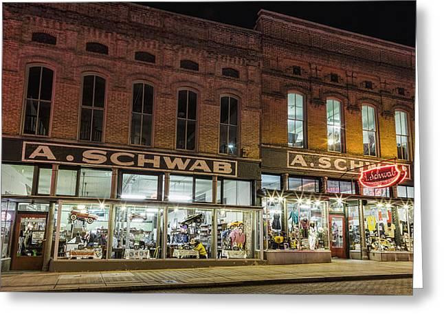 A Schwab - Memphis Greeting Card by Stephen Stookey