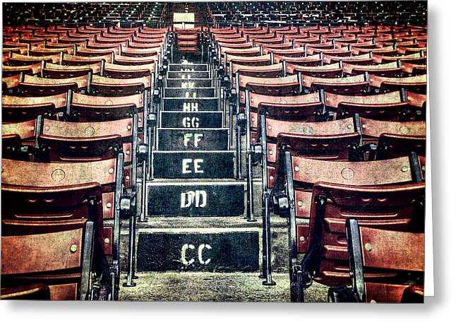 A Sea Of Red - Fenway Park Boston Greeting Card by Joann Vitali