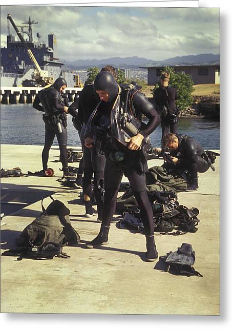 A Seal Team Combat Swimmer Squad Put Greeting Card