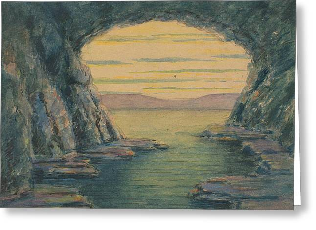 A Seaside Cave Greeting Card