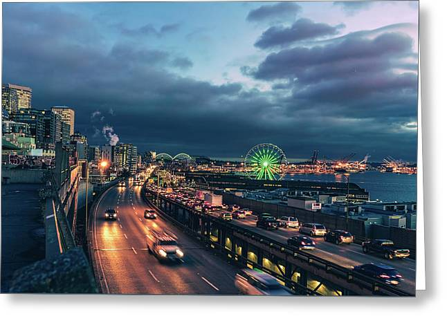 A Seattle Evening Greeting Card