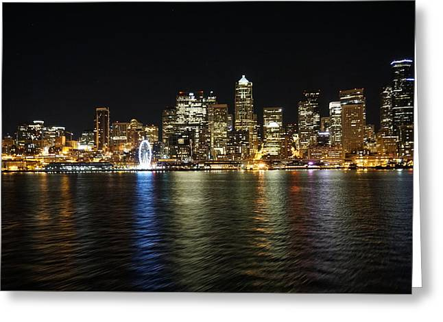A Seattle Night Greeting Card