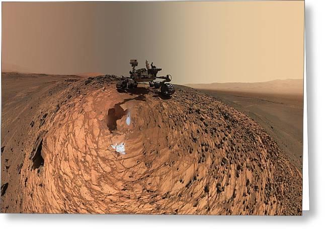 A Selfie On Mars Greeting Card by Nasa