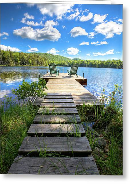 A Short Walk To Paradise  Greeting Card by David Patterson