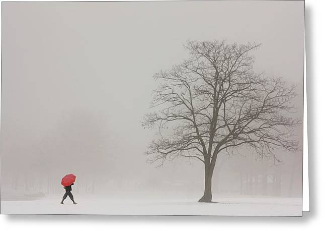 A Shortcut Through The Snow Greeting Card by Tom York Images
