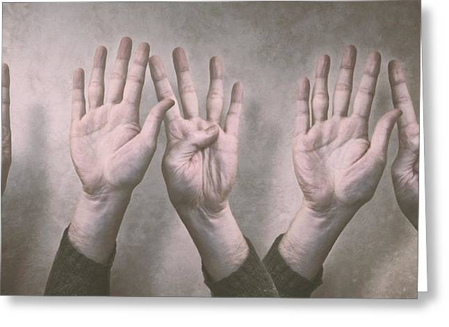 A Show Of Hands Day 197 Greeting Card by Scott Norris