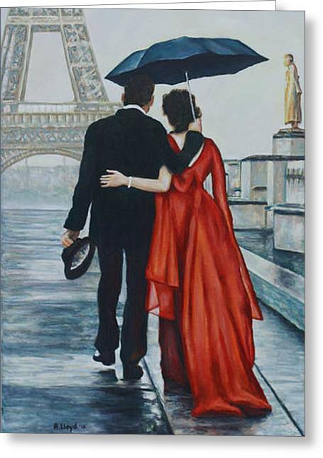 A Shower At The Trocadero Greeting Card by Andy Lloyd