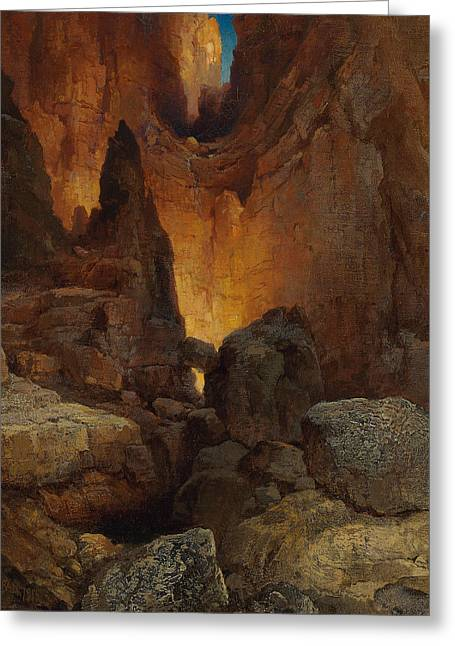 A Side Canyon, Grand Canyon Of Arizona Greeting Card by Thomas Moran