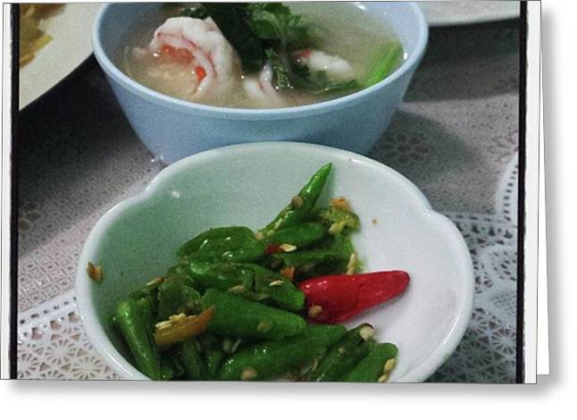 Greeting Card featuring the photograph A Side Of Tom Yum Goon With Your by Mr Photojimsf