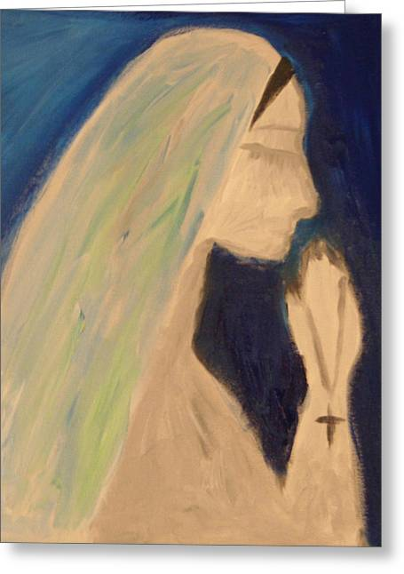 A Silent Prayer In The Night Greeting Card by Ty Agha