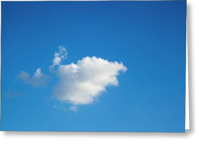 A Single Cloud Greeting Card