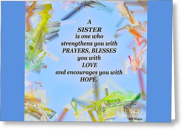 A Sister - Signed Digital Art Greeting Card