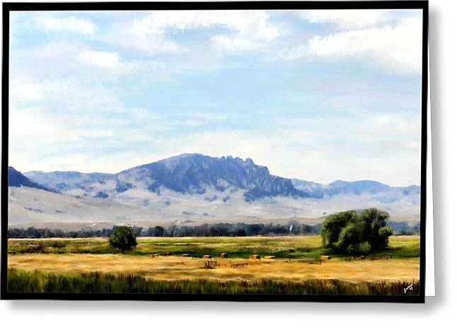 Greeting Card featuring the painting A Sleeping Giant by Susan Kinney