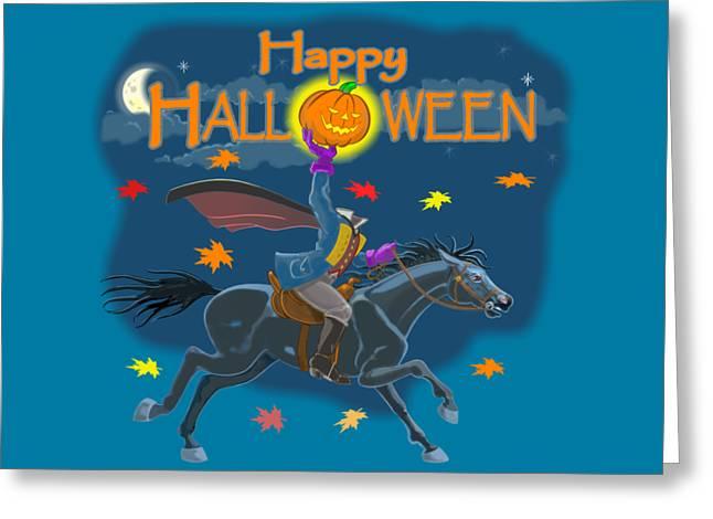 A Sleepy Hollow Halloween Greeting Card