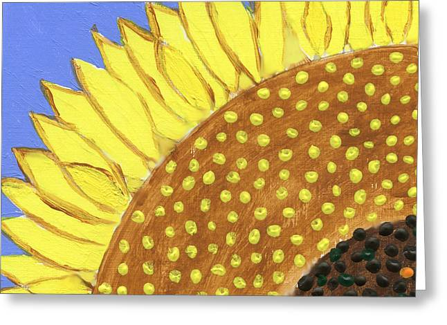 A Slice Of Sunflower Greeting Card