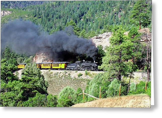 Narrow Gauge Greeting Cards - A Slow Climb Greeting Card by Ken Smith
