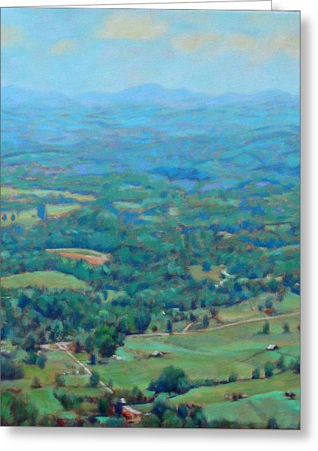 A Slow Summer's Day- View From Roanoke Mountain Greeting Card by Bonnie Mason