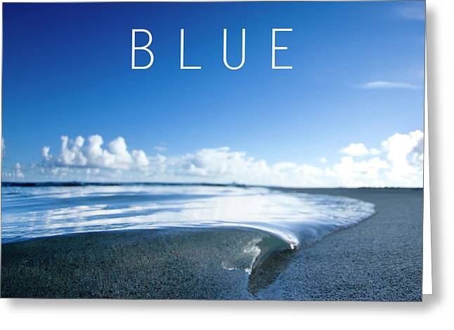 Blue. Greeting Card