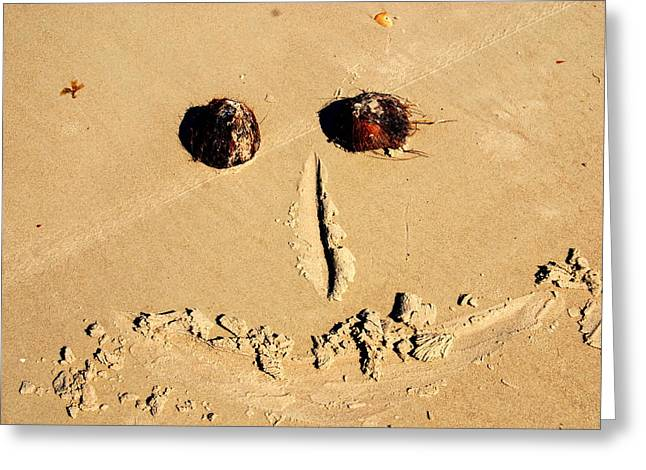 Sandy Beaches Greeting Cards - A Smile for You Greeting Card by Susanne Van Hulst