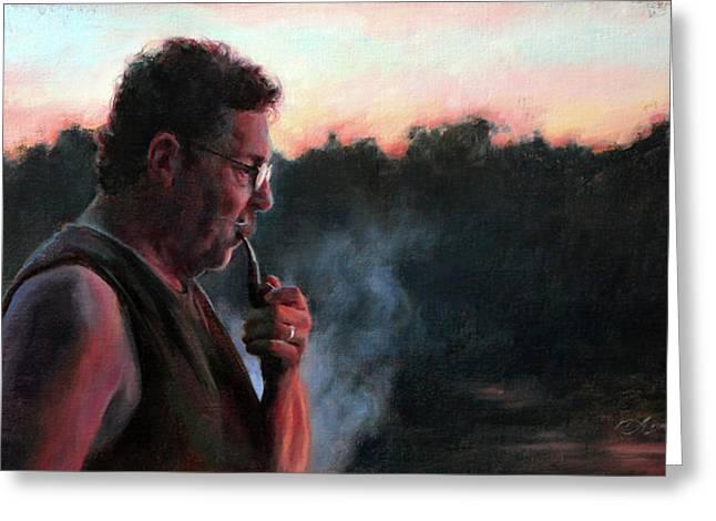 A Smoke At Dusk Greeting Card