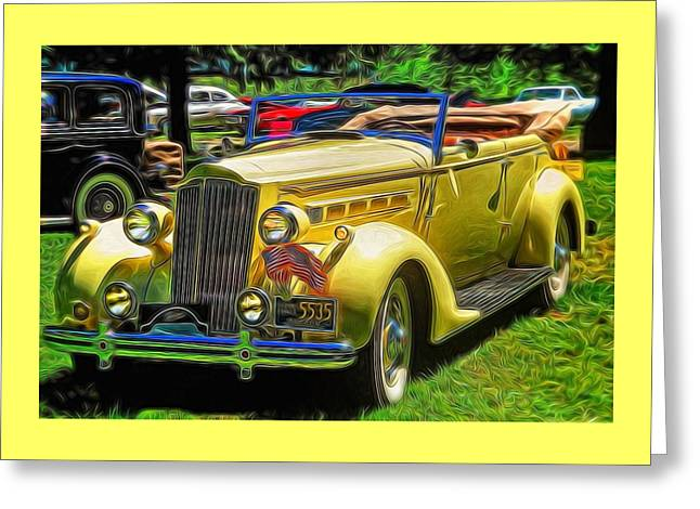A Snappy 1937 Packard Convertible Greeting Card