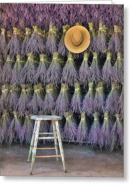 A Sniff Of Lavender Greeting Card
