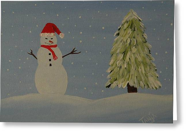 A Snowman's Christmas Greeting Card