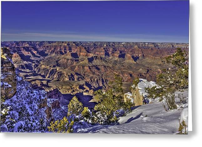 A Snowy Grand Canyon Greeting Card