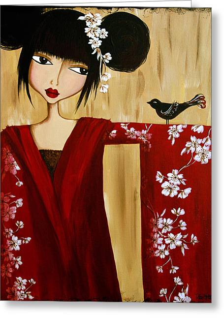 A Song For Suki Greeting Card by Debbie Horton
