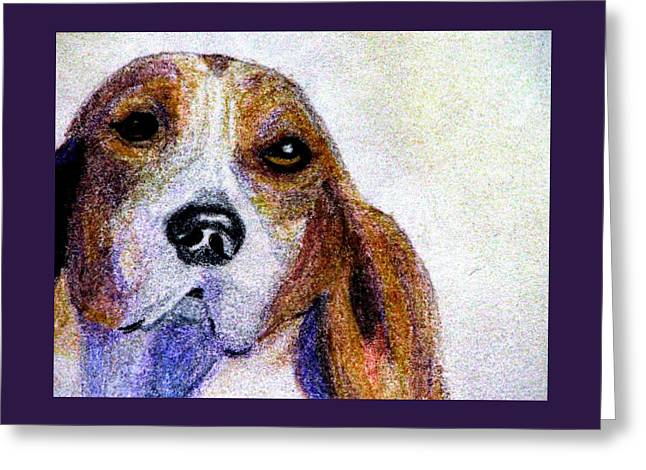 A Soulful Hound Greeting Card
