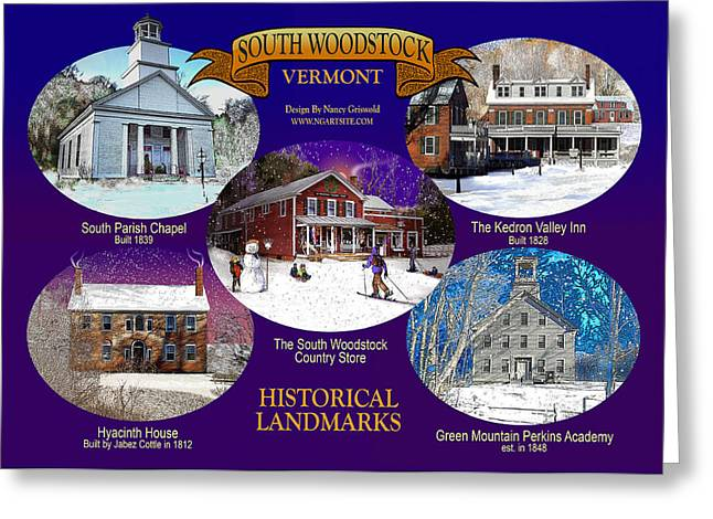 A South Woodstock Winter Greeting Card by Nancy Griswold