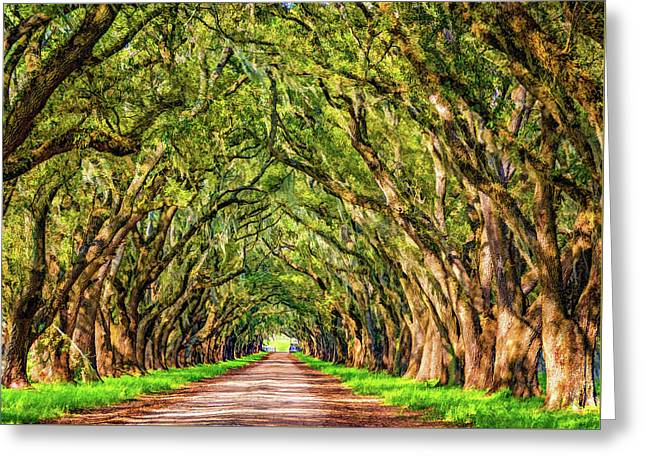 A Southern Lane 2 - Paint Greeting Card