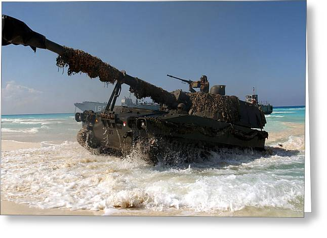 A Spanish Army M109a5 155mm Greeting Card by Stocktrek Images