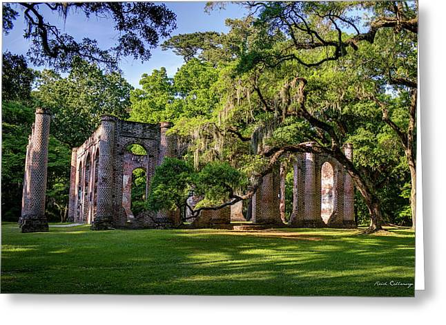 A Special Place Old Sheldon Church Ruins Greeting Card